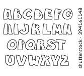 funny alphabet. vector letters... | Shutterstock .eps vector #394161148