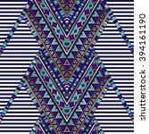 zigzag tribal navajo vector... | Shutterstock .eps vector #394161190