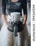 wedding. bride. a wedding cake. ... | Shutterstock . vector #394164544