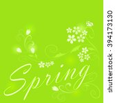 abstract green floral spring... | Shutterstock .eps vector #394173130