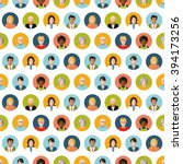 crowd of round flat people... | Shutterstock .eps vector #394173256