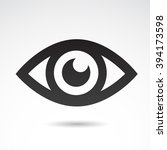 eye icon isolated on white... | Shutterstock .eps vector #394173598