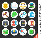 round flat icons for web sites  ... | Shutterstock .eps vector #394174966