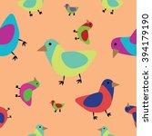 seamless pattern birds | Shutterstock .eps vector #394179190