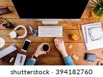 business person working at... | Shutterstock . vector #394182760