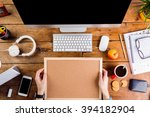 business person working at... | Shutterstock . vector #394182904