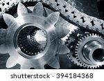 titanium and steel cogwheels... | Shutterstock . vector #394184368