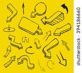 doodle vector arrow collection  ... | Shutterstock .eps vector #394186660