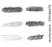 set of hand drawn pencil... | Shutterstock .eps vector #394186678