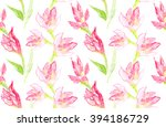 seamless pattern with pink... | Shutterstock . vector #394186729