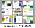 set of 9 vector templates for... | Shutterstock .eps vector #394187050