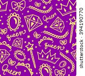 vector seamless girly pattern... | Shutterstock .eps vector #394190770