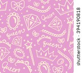 vector seamless girly pattern... | Shutterstock .eps vector #394190818