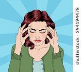 Woman Has A Headache. Woman...