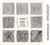 hand drawn textures and brushes.... | Shutterstock .eps vector #394200229