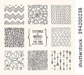 hand drawn textures and brushes.... | Shutterstock .eps vector #394200238