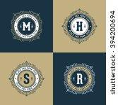 set of monogram logo template... | Shutterstock .eps vector #394200694