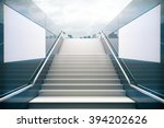 empty white stairs in...   Shutterstock . vector #394202626