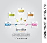 infographic report template... | Shutterstock .eps vector #394207570