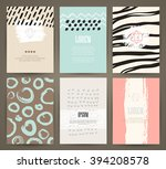 set of brochures with hand... | Shutterstock .eps vector #394208578