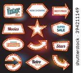 retro banner retro motel sign | Shutterstock .eps vector #394211149