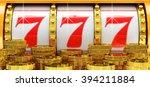 jackpot  gambling gain  luck... | Shutterstock . vector #394211884
