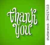 a thank you message made of... | Shutterstock . vector #394217113