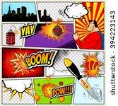comics template. vector retro... | Shutterstock .eps vector #394223143