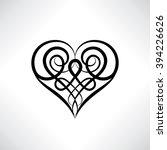Heart Shape Symbol Isolated....
