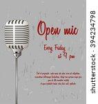 open microphone concept.... | Shutterstock .eps vector #394234798