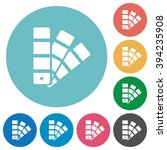 flat color swatch icon set on...