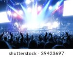 party people at a frenetic pop...   Shutterstock . vector #39423697