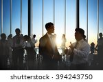 business collaboration... | Shutterstock . vector #394243750