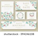 Set Of Flower Invitation Cards...