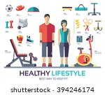 sport life style infographic... | Shutterstock .eps vector #394246174