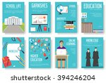 back to school information... | Shutterstock .eps vector #394246204