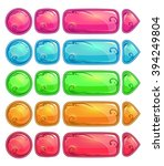 cute colorful glossy buttons...