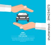 concept insurance of cars. cars ... | Shutterstock .eps vector #394254073