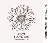 card for mother's day. spring... | Shutterstock .eps vector #394267876