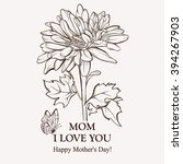 card for mother's day.... | Shutterstock .eps vector #394267903
