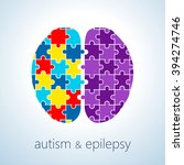Stock vector vector illustration of autism and epilepsy connection concept autism awareness day 394274746