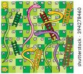 snake and ladder game | Shutterstock .eps vector #394278460