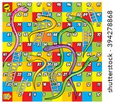 Colorful Snake And Ladder Game