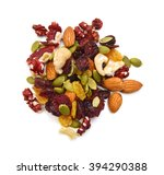 mix nuts  dry fruits and grapes ... | Shutterstock . vector #394290388