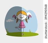 happy kids design  | Shutterstock .eps vector #394290568