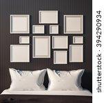 simple bedroom for mock up... | Shutterstock . vector #394290934