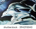 Painting Of Three Dolphins...