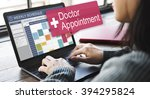 doctor appointment diagnosis... | Shutterstock . vector #394295824