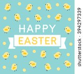 easter greeting card  menu or... | Shutterstock .eps vector #394297339