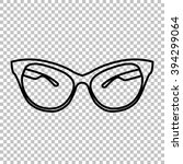 stylish sunglasses line icon on ... | Shutterstock . vector #394299064